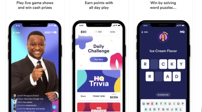 HQ Trivia offered a daily online game live