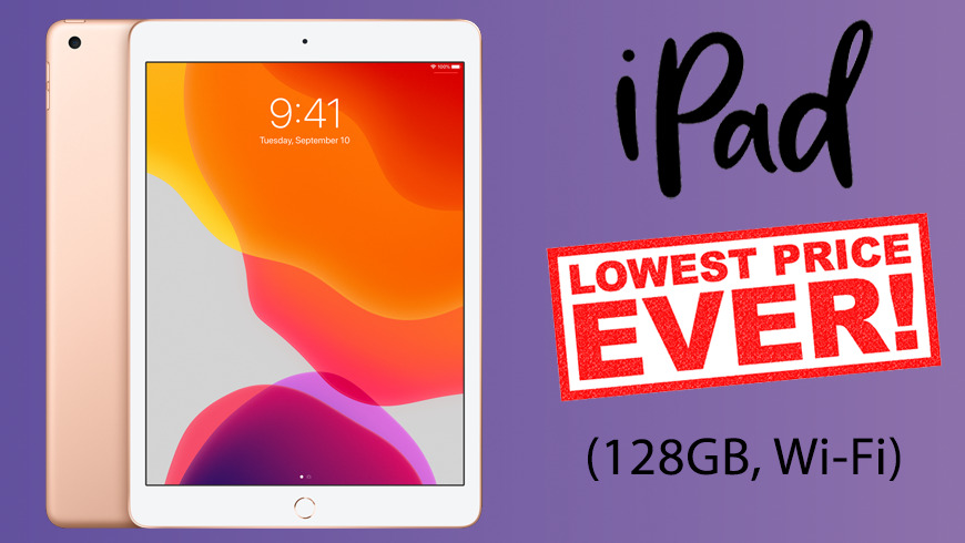 Latest Apple iPad (128GB) hits new all-time low price