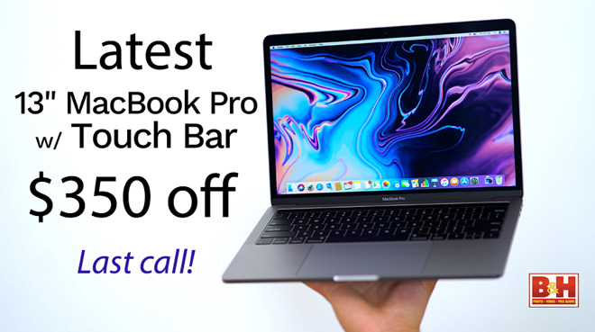 Last call to save $350 on Apple's latest 13-inch MacBook Pro