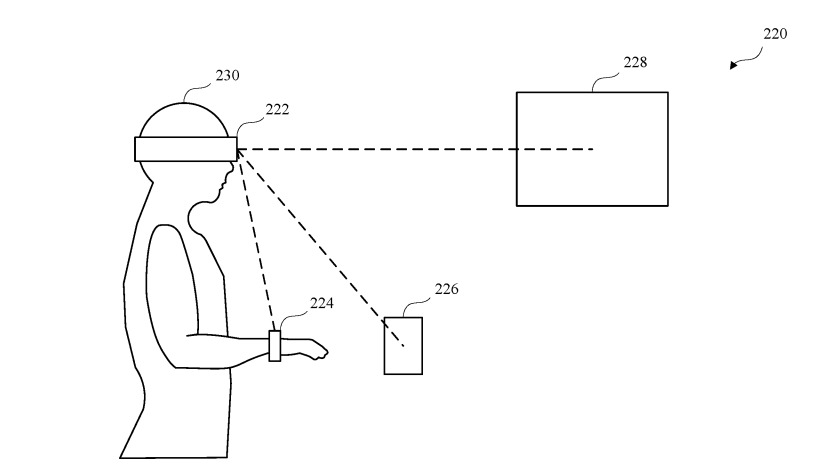 Patent drawing of headset authenticating devices