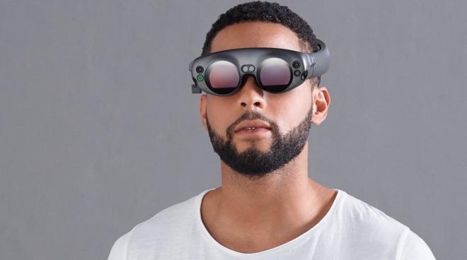The Magic Leap One Lightwear AR goggles, an example of an AR headset