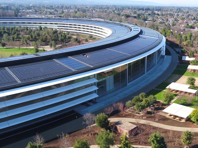 Apple Park, just prior to opening