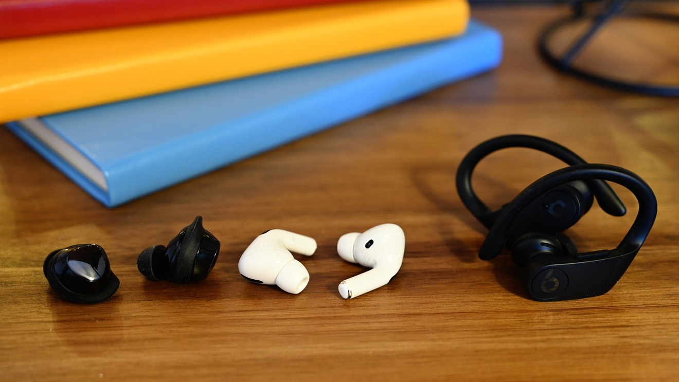 AirPods Pro, Galaxy Buds+, and Powerbeats Pro