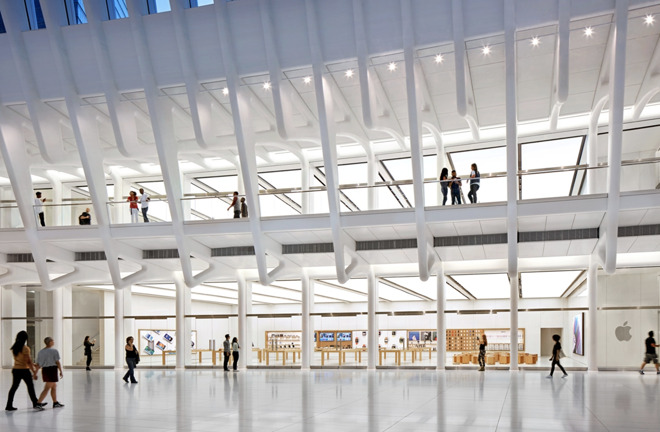 The Apple Store at the World Trade Center