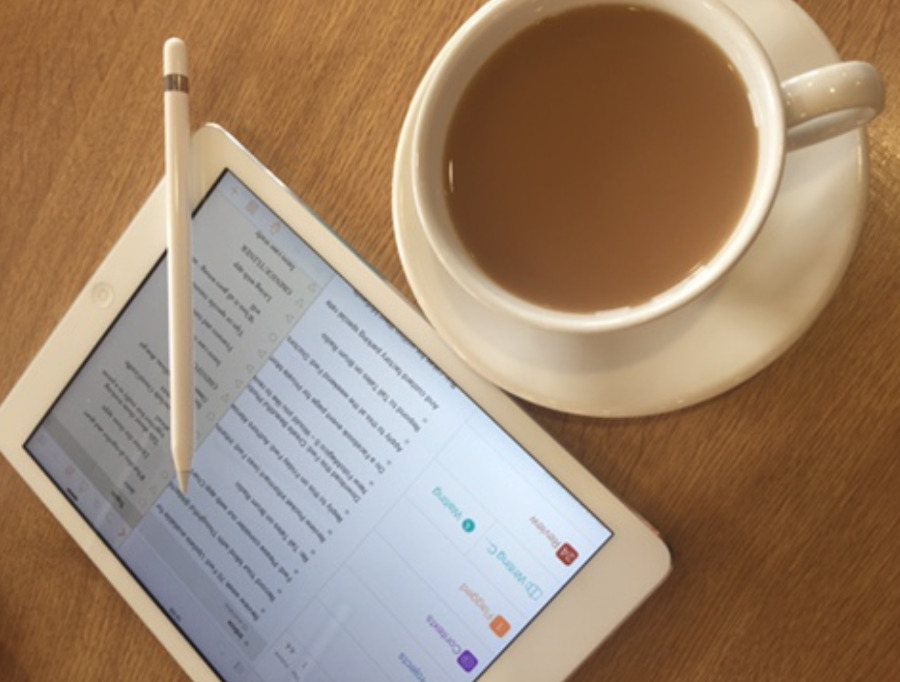An iPad, an Apple Pencil, and a good cup of tea. You won't want to go back to a corporate office.