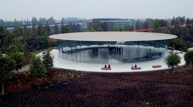 The Steve Jobs Theater at Apple Park