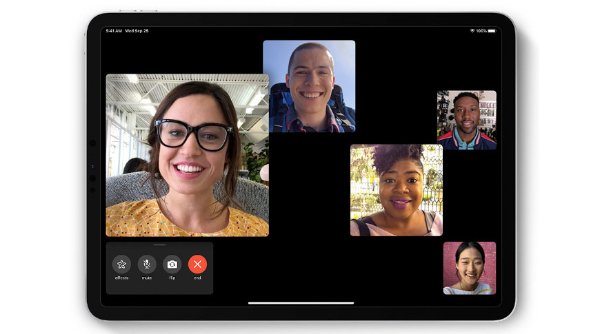 Apple's own FaceTime is the perfect way to work on group projects remotely