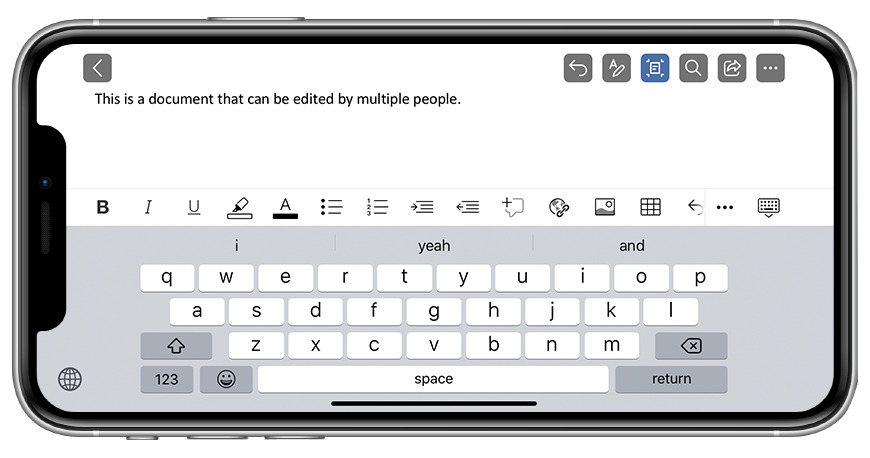 The Microsoft Office app works on both iPad and iPhone, allowing you to contribute anywhere.