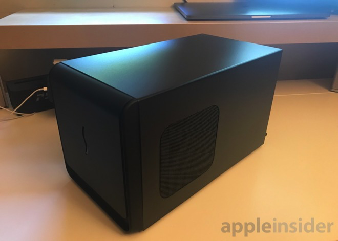 A Sonnet eGPU with the Sapphire 580 in Apple's own developers' kit