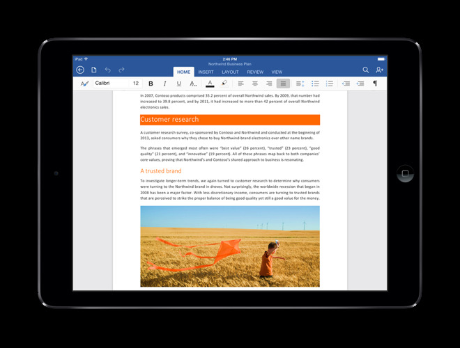 Microsoft took its time bringing Word to the iPad.
