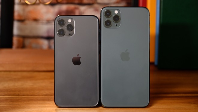 Apple iPhone 11 Pro and iPhone 11 Pro Max side by side