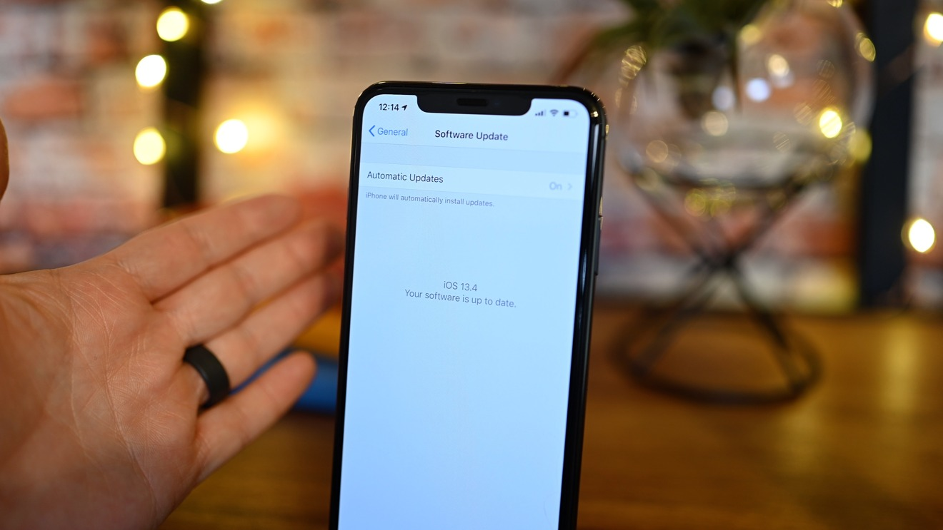The iOS 13.4 update for iPhone