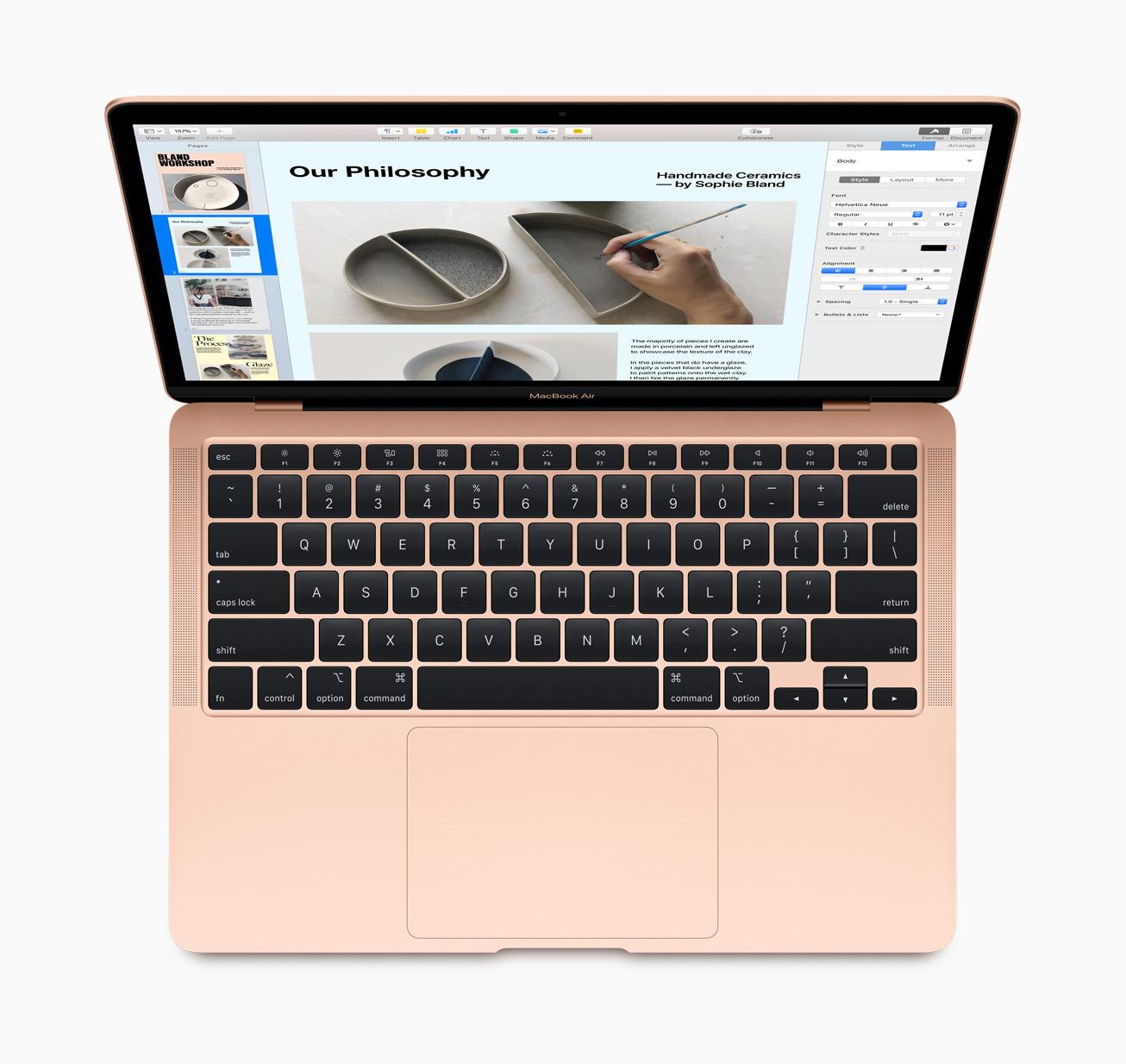 New Magic Keyboard on the 2020 MacBook Air