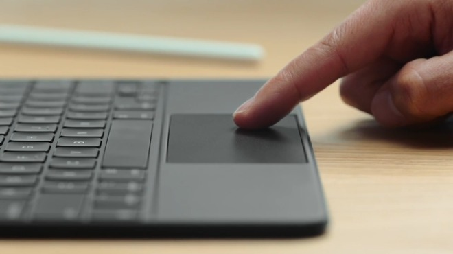 logitech iPad's trackpad