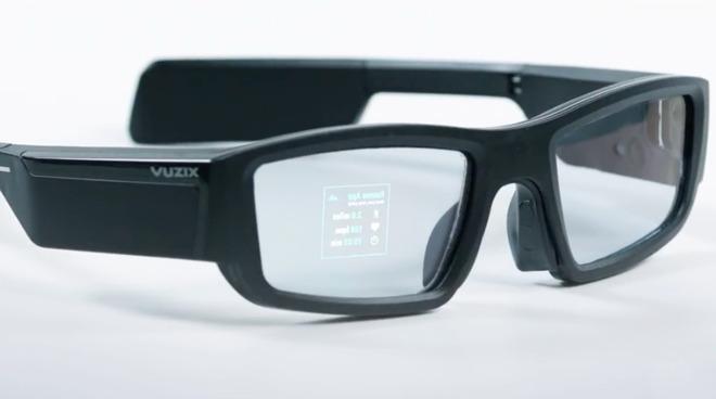 A pair of Vuzix Blade Smart Glasses