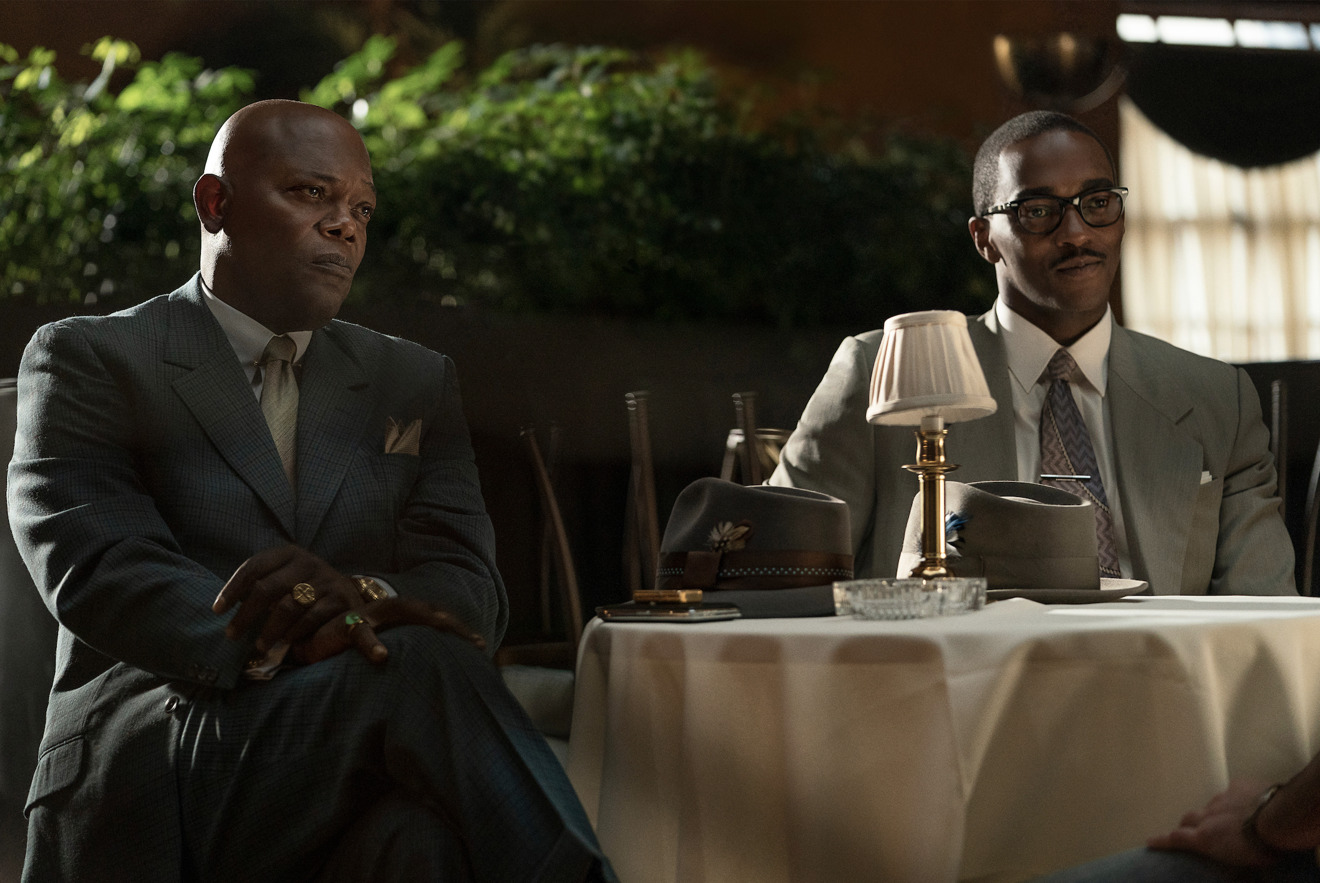 Samuel L. Jackson and Anthony Mackie in Apple TV+ movie The Banker (Apple)