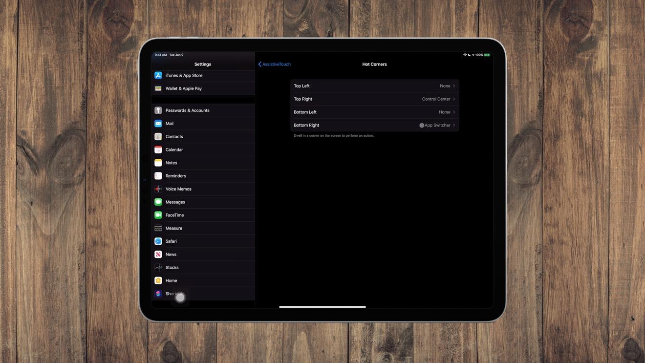 Customizing the Hot Corners functionality on iPadOS 13.4