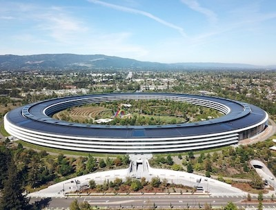Apple Park drone footage shows ghost town amid COVID-19 outbreak