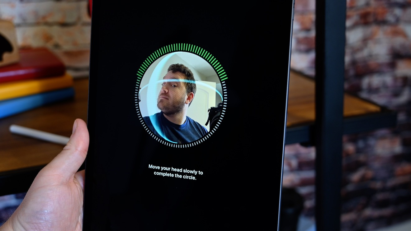 The iPad Pro's front-facing camera is part of the TrueDepth camera system which is also used for Face ID