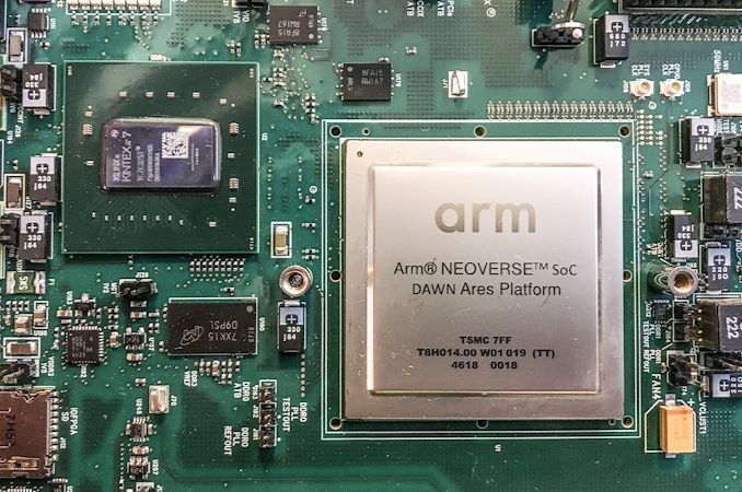 ARM's recently announced Neoverse chip is aimed at high-performance server applications.