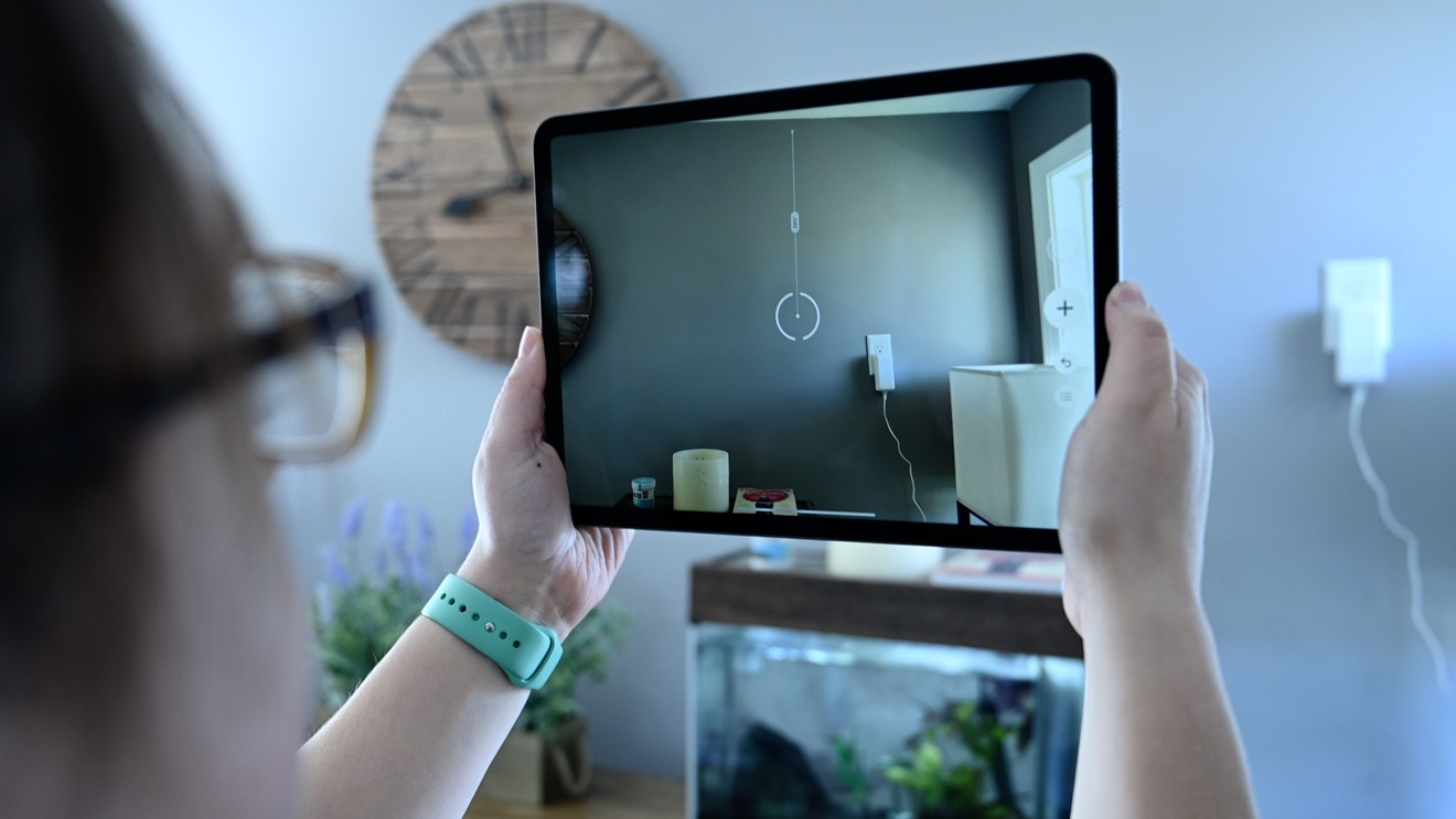 Testing the Measure app on iPad Pro