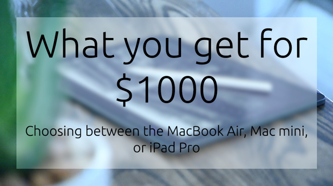 What you get for $1000 -- Mac mini & MacBook Air versus iPad Pro