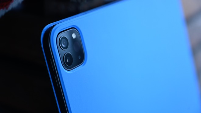 2020 iPad Pro in the blue Smart Cover