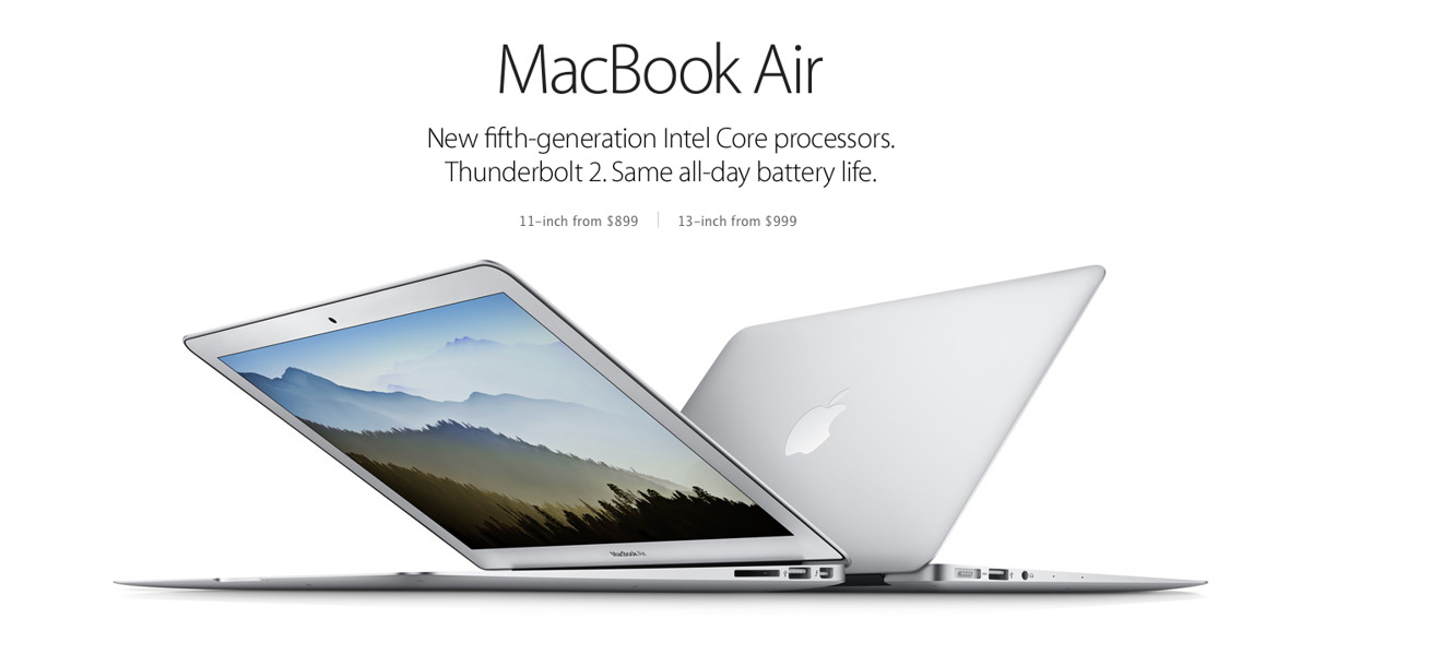 The MacBook Air from 2015 is now routinely available for under $500