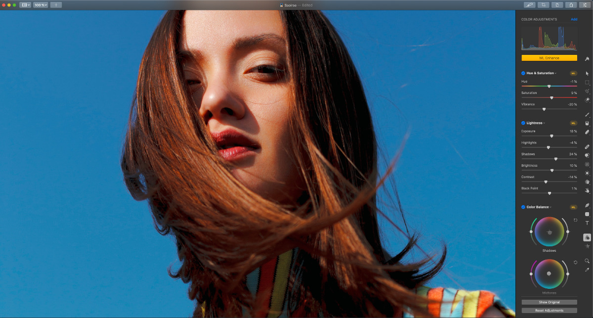 Pixelmator Pro's new color picker and greater performance improves color adjustments too.