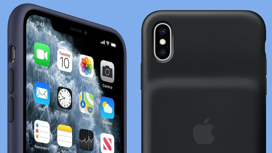 iPhone 11 silicone case with iPhone battery case