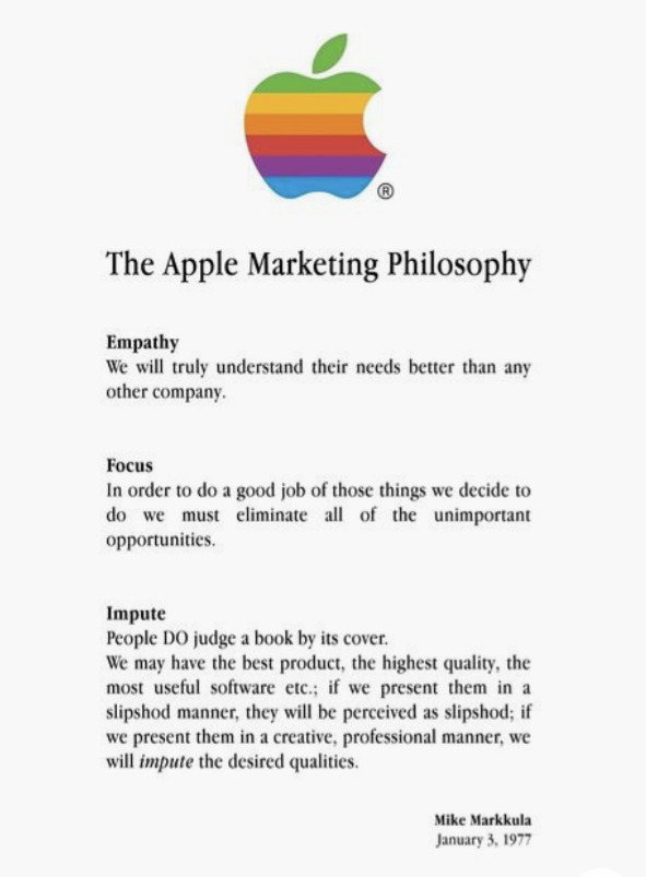 This was Apple in 1977 - and it's still Apple today.