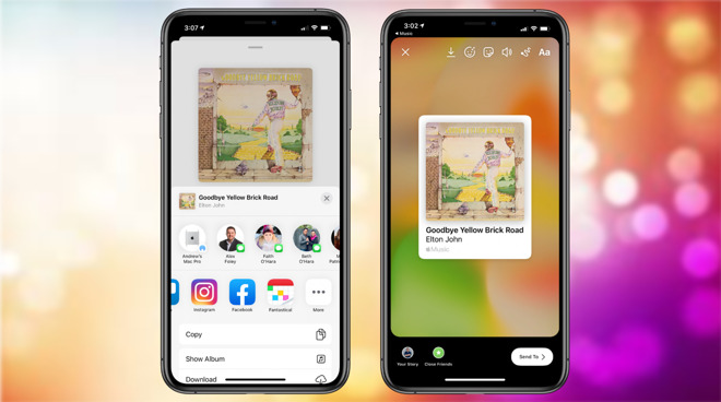 Image of article 'Apple Music gains new 'share to Instagram and Facebook' option in iOS 13.4.5 developer beta'