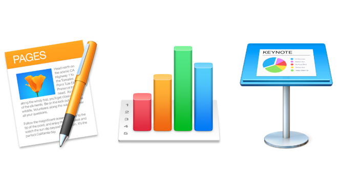 Pages, Numbers, and Keynote make up the iWork Suite of apps