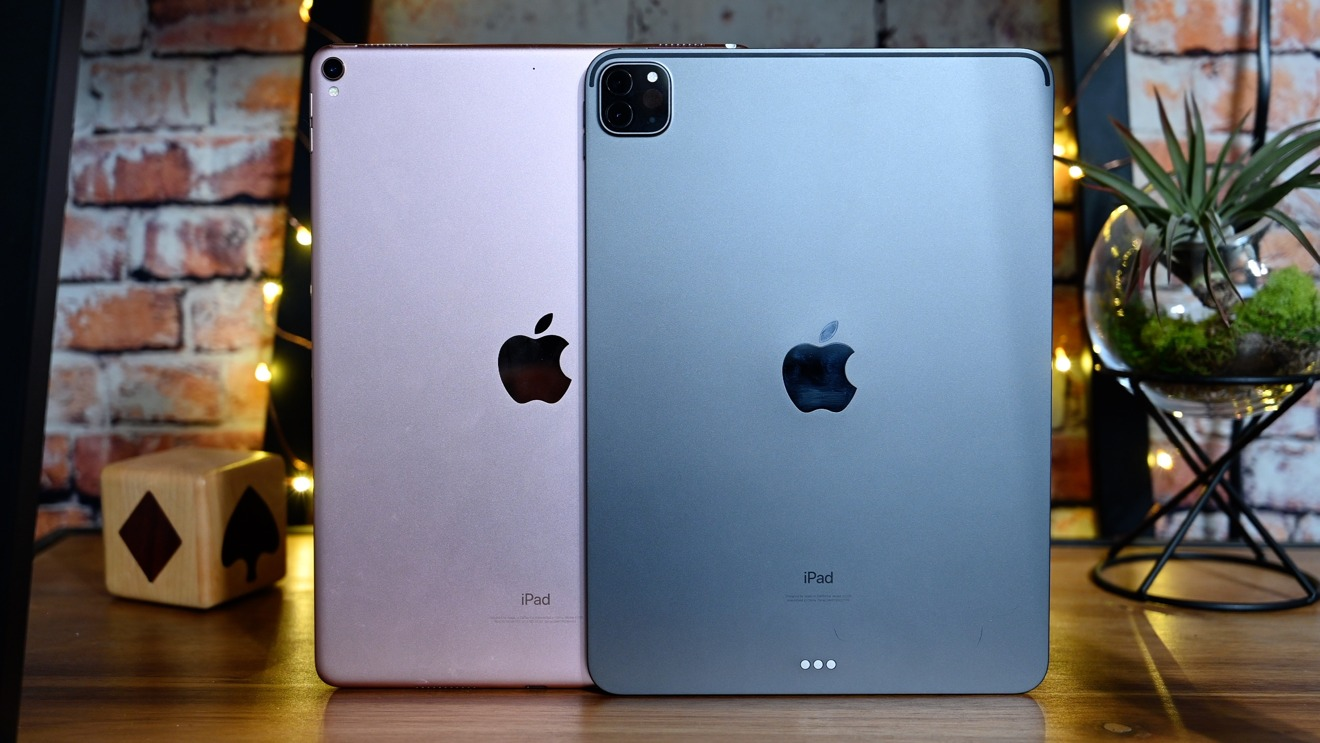 The backs of the 10.5-inch and 11-inch iPad Pros