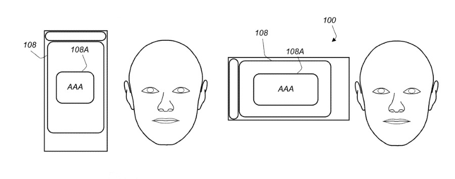 Future devices could detect the orientation of a user's face and use that to determine the right rotation for its display