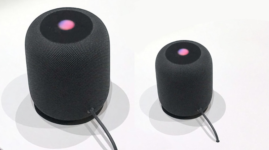 Reportedly, a new HomePod willl be half the size of the current one