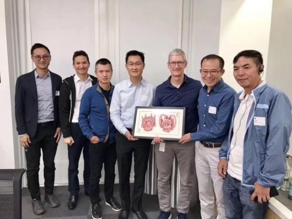 In 2017, the heads of Tencent gave Tim Cook a framed piece of Chinese folk art