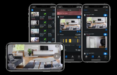 Eve app now displays HomeKit cameras better