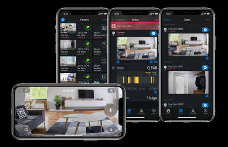 Eve app now displays HomeKit cameras better