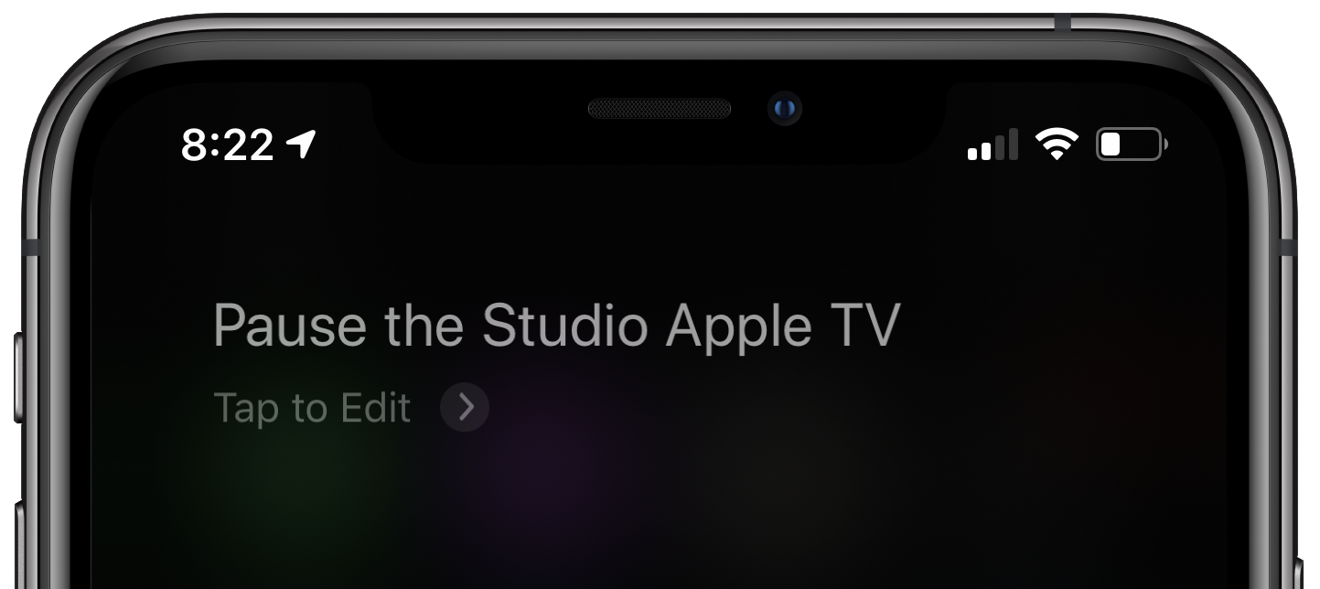 Siri being used to pause the Apple TV