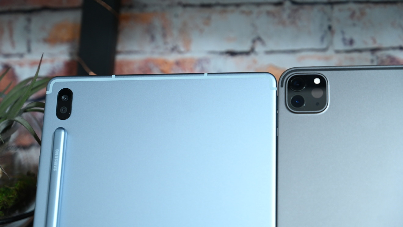 Dual-camera setups on iPad Pro and Galaxy Tab S6
