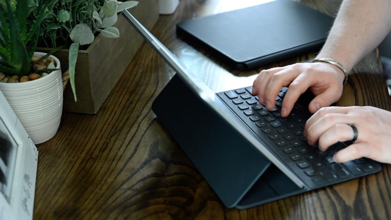 Typing on the Smart Keyboard Folio