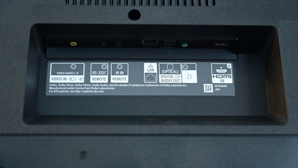 Sony X800H rear ports