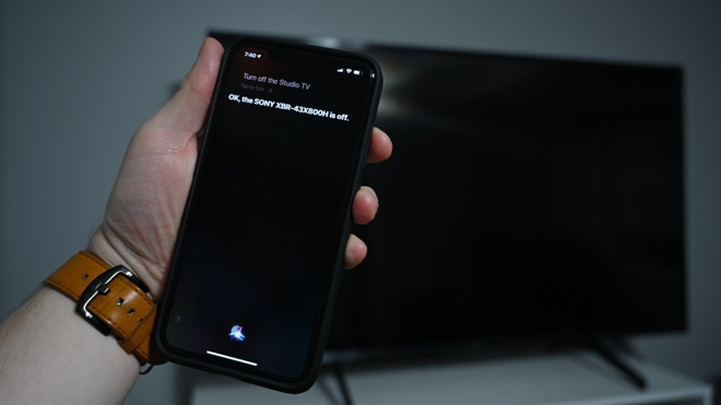 Turning the TV off with Siri