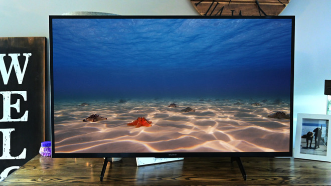 The 43-inch Sony X800H HomeKit-enabled television