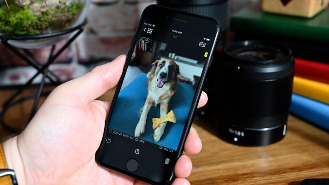Pet portraits work thanks to the help of third-party apps such as Halide
