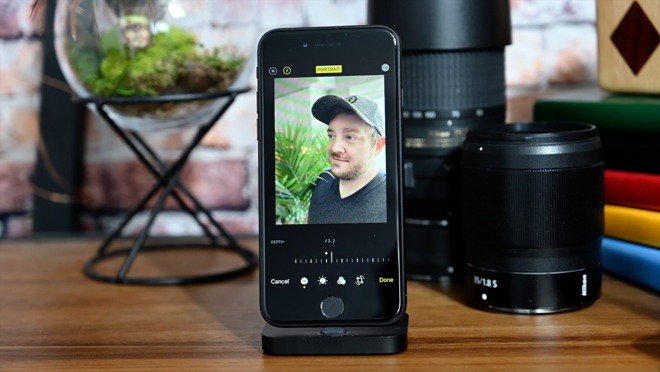 Editing a portrait mode image shot on the iPhone SE