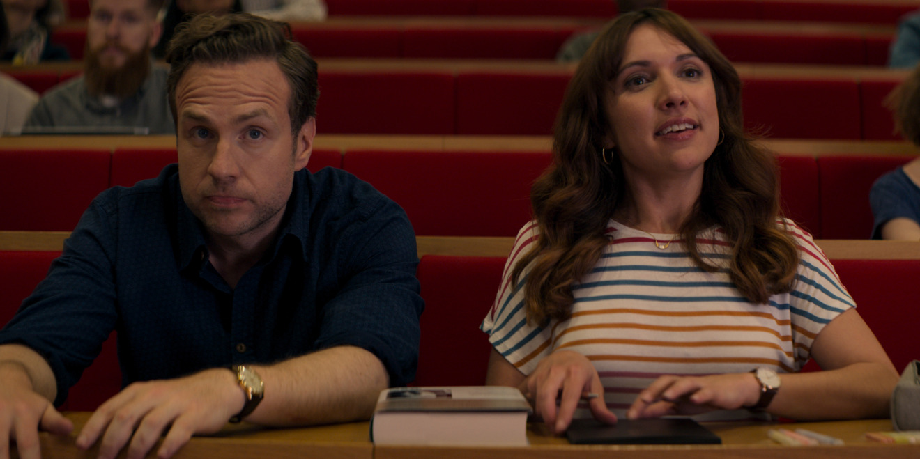 Rafe Spall and Esther Smith in Trying, premiering May 1 on Apple TV+
