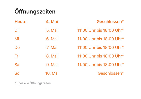 Apple Krntner Strae's special new opening hours