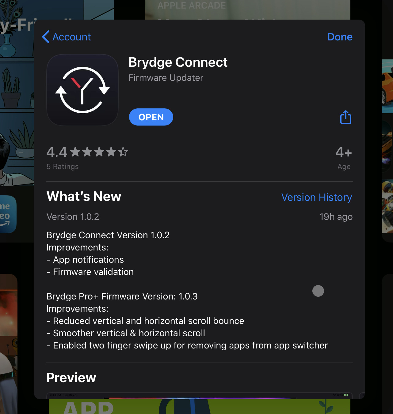 The second firmware update to the Brydge Pro+ keyboard